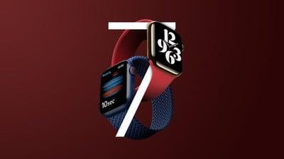 Apple Watch 7, fonctionnalité non publiée en rouge