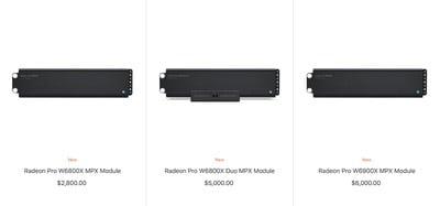 modules mpx de la série radeon pro w6000