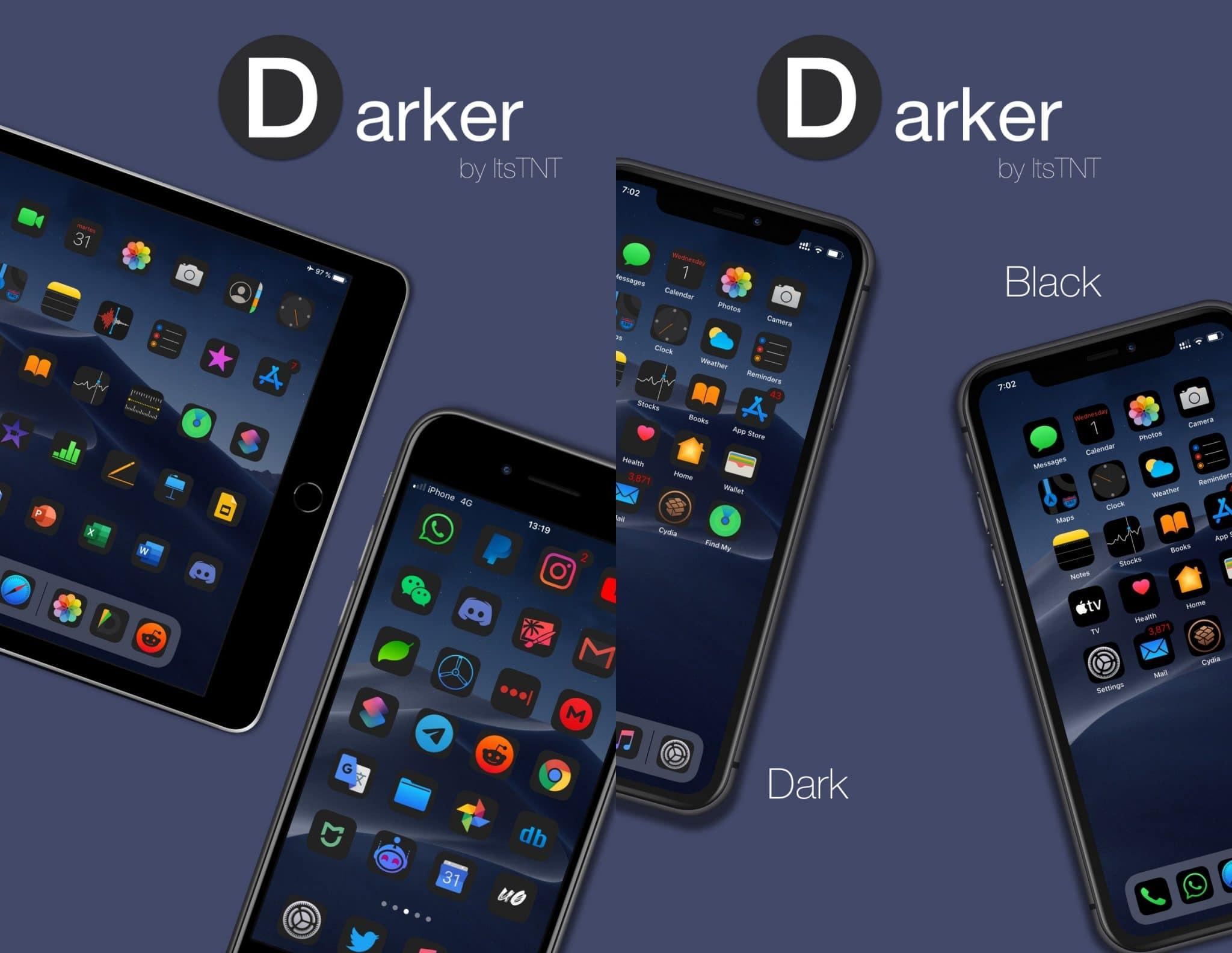 Thème iOS 14 le plus sombre