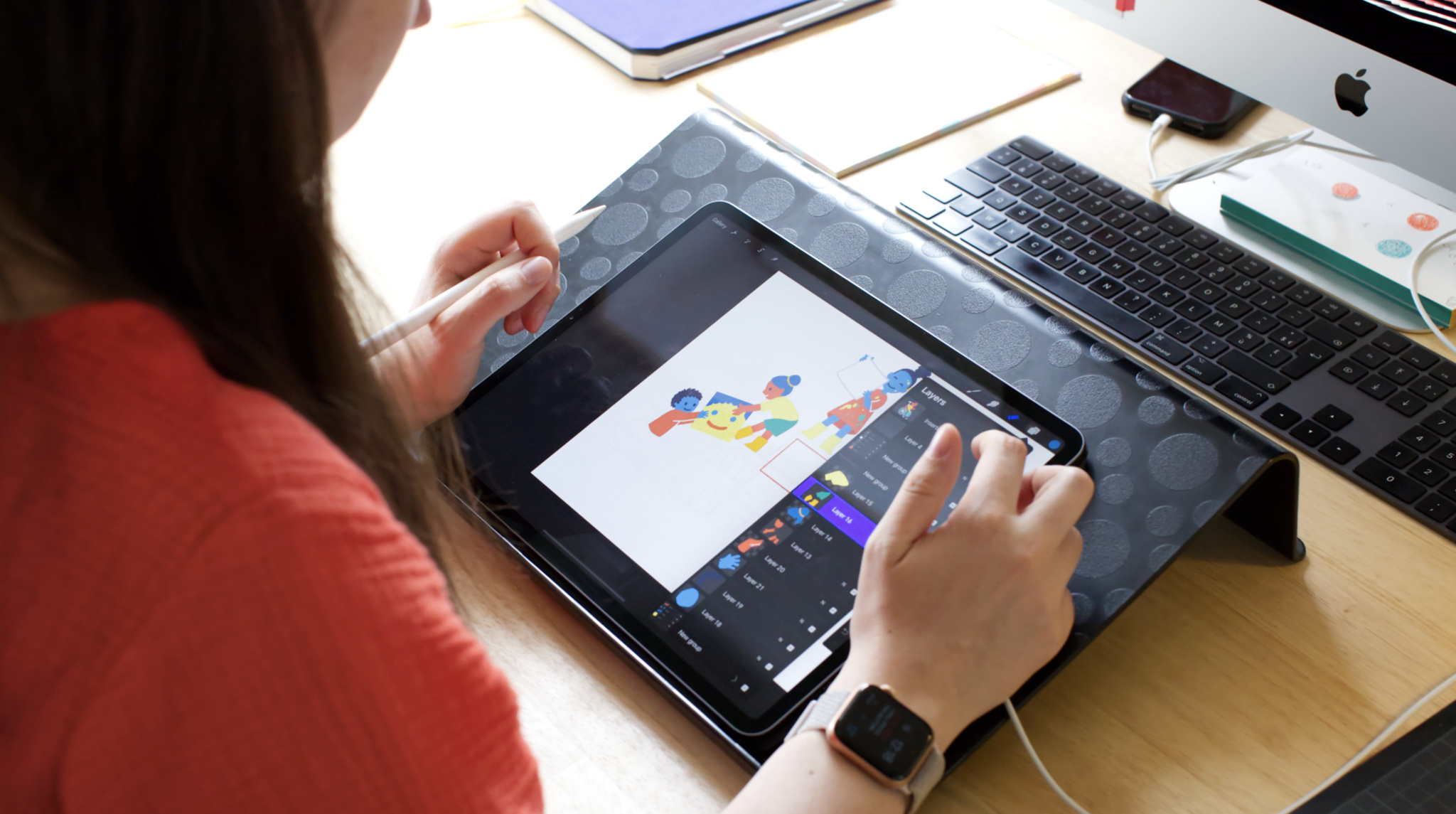 Dessins de croquis Huybreghts sur iPad