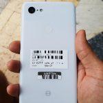Google Pixel 3 XL fuit en blanc;  Confirme Notch, 4 Go de RAM, une seule caméra arrière