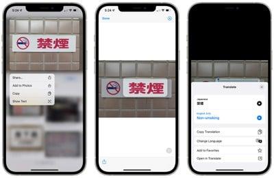 safari traduire l'interface de texte en direct