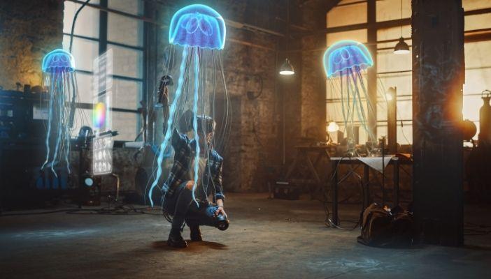 artiste apprécie l'art spatial 3D possible grâce à la réalité virtuelle |  AffinitéVR