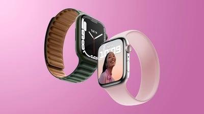 Apple Watch Series 7 Fonctionnalité rose et vert