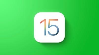 iOS 15 - Fonctionnalité verte générale