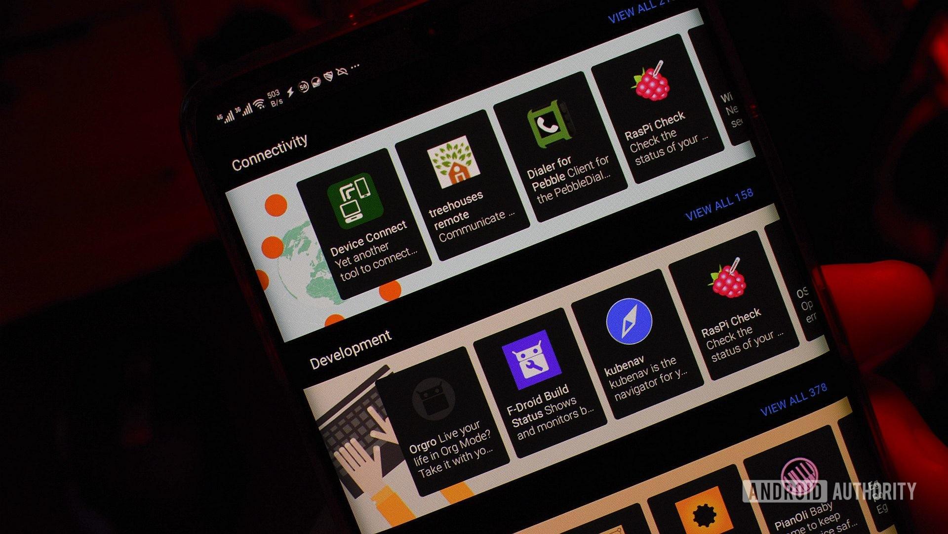 Android 12 magasins d'applications alternatifs fdroid 1